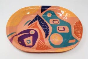 Ceramic Platter by Jennifer During